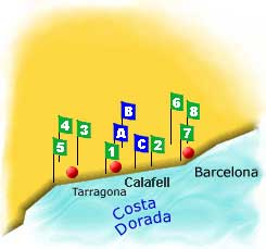 Golf courses in Costa Dorada